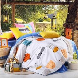 王后家纺全棉环保印花床上用品 三件套 动物乐园